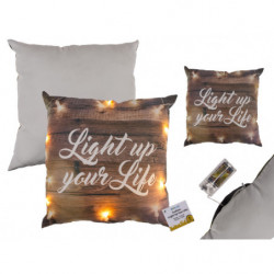 """Coussin """"light up your life"""" led"""