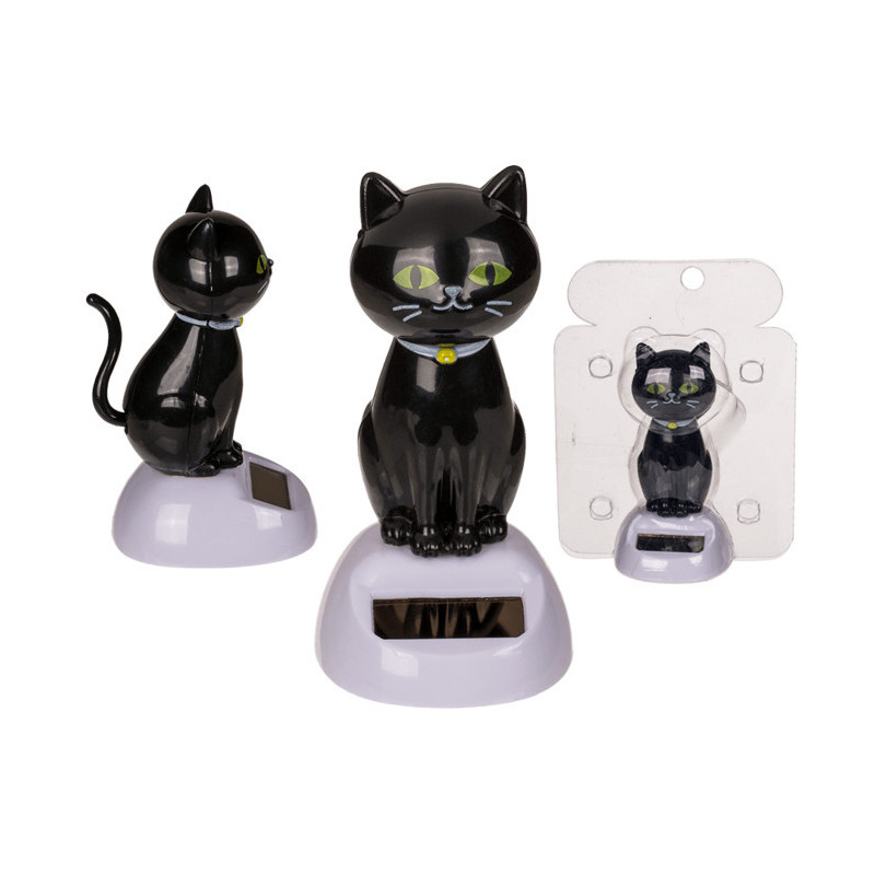 Figurine solaire chat